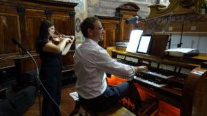 organista violinista matrimonio